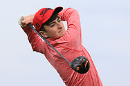 Matthew Whelan (Ennis) on the 1st tee during Round 2 of the Connacht U16 Boys Amateur Open Championship at Galway Bay Golf Club, Oranmore, Galway on Wednesday 17th April 2019.<br /> Picture:  Thos Caffrey / www.golffile.ie