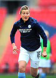 Ellen White of Manchester City Women warms up - Mandatory by-line: Nizaam Jones/JMP - 29/08/2020 - FOOTBALL - Wembley Stadium - London, England - Chelsea v Manchester City - FA Women's Community Shield