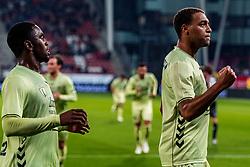 27-09-2018 NED: FC Utrecht - MVV Maastricht, Utrecht<br /> First round Dutch Cup stadium Nieuw Galgenwaard / Cyriel Dessers #11 of FC Utrecht scores the penalty 1-0, Gyrano Kerk #7 of FC Utrecht