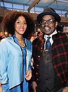 """April 3, 2017- Brooklyn, New York -United States: (L-R) Poet/Actress Sarah Jones and Artist/TV Personality Fred Brathwaite aka Fab 5 Freddy attend the The Seventh Annual Brooklyn Artists Ball honoring Alicia Keys and Kasseem """"Swiss Beatz"""" Dean held at the Brooklyn Museum on April 3, 2017 in Brooklyn, New York. The Brooklyn Artist Ball is the largest annual fundraising gala at the Brooklyn Museum, which celebrates Brooklyn's creative community and supports the institution's many programs. (Terrence Jennings/terrencejennings.com)"""