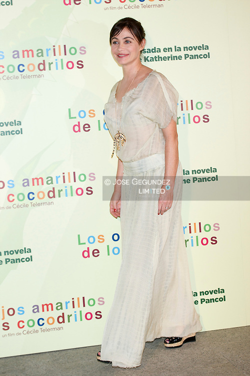French actress Emmanuelle Beart attends the 'Les Yeux Jaunes Des Crocodiles' Madrid Premiere at at the Academia de Cine on April 30, 2014 in Madrid, Spain.