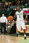 WACO, TX - DECEMBER 9: Kenny Chery #1 of the Baylor Bears brings the ball up court against the Texas A&M Aggies on December 9, 2014 at the Ferrell Center in Waco, Texas.  (Photo by Cooper Neill/Getty Images) *** Local Caption *** Kenny Chery