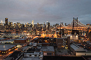 Williamsburg NY355A  Manhattan Skyline view from