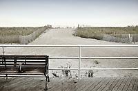 Bench On Atlantic City Boardwalk