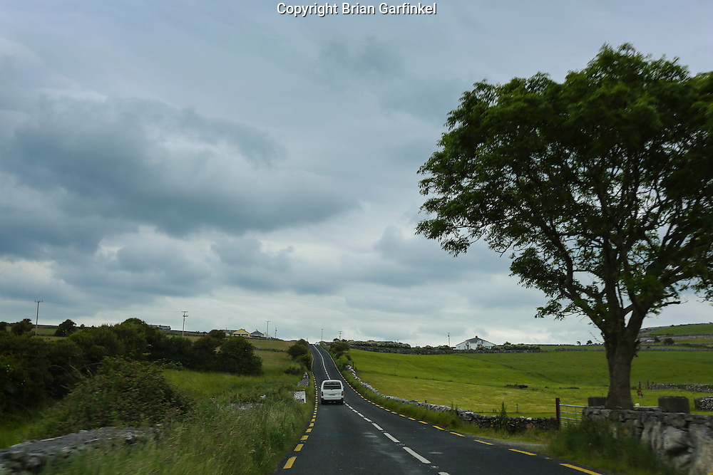 Driving through the country on narrow roads in County Clare, Ireland on Friday June 21st 2013. (Photo by Allison Garfinkel)