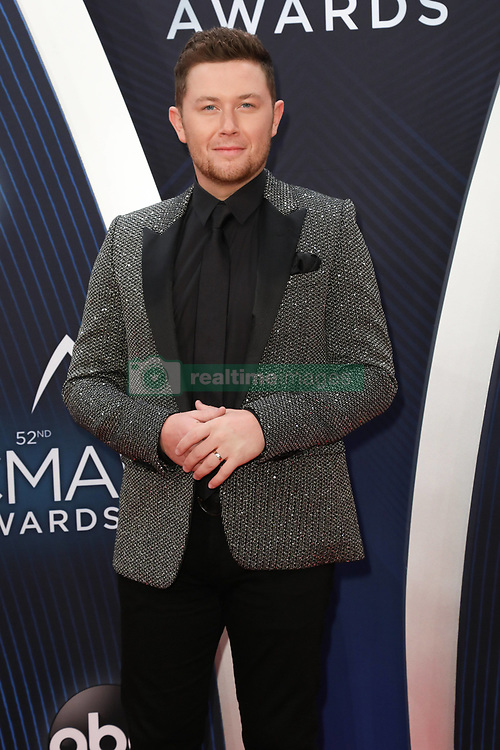 52nd Annual Country Music Association Awards hosted by Carrie Underwood and Brad Paisley and held at the Bridgestone Arena on November 14, 2018, in Nashville, TN. © Curtis Hilbun / AFF-USA.com. 14 Nov 2018 Pictured: Scotty McCreery. Photo credit: Curtis Hilbun / AFF-USA.com / MEGA TheMegaAgency.com +1 888 505 6342