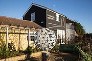 Cafe restaurant garden Darsham Nurseries, Suffolk, England, Uk
