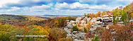 63895-15915 Camel Rock in fall color Garden of the Gods Recreation Area Shawnee National Forest IL