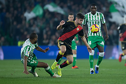 December 9, 2018 - Seville, Andalucía, Spain - Sidnei, Real Betis, and Pozo, Rayo, fight for the ball during the LaLiga match between Real Betis and Rayo in Benito Villamarín Stadium  (Credit Image: © Javier MontañO/Pacific Press via ZUMA Wire)