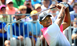 March 16, 2018 - Orlando, FL, USA - Tiger Woods tees off on hole #1 to start his second day of the Arnold Palmer Invitational at Bay Hill Friday, March 16, 2018, in Orlando, Fla. (Credit Image: © Joe Burbank/TNS via ZUMA Wire)
