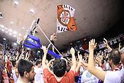 DESCRIZIONE : Reggio Emilia Lega A 2014-15 Grissin Bon Reggio Emilia Banco di Sardegna Sassari finale play off gara 5<br /> GIOCATORE : tifosi Grissin Bon Reggio Emilia<br /> CATEGORIA : tifosi esultanza<br /> SQUADRA : Grissin Bon Reggio Emilia<br /> EVENTO : Campionato Lega A 2014-2015<br /> GARA : Grissin Bon Reggio Emilia Banco di Sardegna Sassari<br /> DATA : 22/06/2015<br /> SPORT : Pallacanestro <br /> AUTORE : Agenzia Ciamillo-Castoria/E.Rossi<br /> Galleria : Lega Basket A 2014-2015 <br /> Fotonotizia : Reggio Emilia Lega A 2014-15 Grissin Bon Reggio Emilia Banco di Sardegna Sassari finale play off gara 5