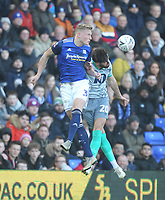 Blackburn Rovers Ben Brereton  jumps with Birmingham City's Kristian Pedersen <br /> <br /> Photographer Mick Walker/CameraSport<br /> <br /> Emirates FA Cup Third Round - Birmingham City v Blackburn Rovers - Saturday 4th January 2020 - St Andrew's - Birmingham<br />  <br /> World Copyright © 2020 CameraSport. All rights reserved. 43 Linden Ave. Countesthorpe. Leicester. England. LE8 5PG - Tel: +44 (0) 116 277 4147 - admin@camerasport.com - www.camerasport.com