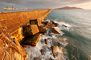 Beautiful evening light on the incredible 1.5 mile long Holyhead breakwater. Completed in 1873 this sea defence is the longest in Europe. It looks so effective in this gently lapping sea but even this mammoth structure couldn't stop the freak destructive power of Storm Emma devastating the inner harbour in 2018.