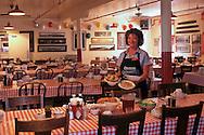Tina Cobb, manager at Samoa Cookhouse, Last lumbercamp cookhouse, Samoa Humboldt County, CALIFORNIA