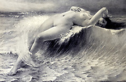 La Vague [The wave] by Guillaiume Seignac from Le Nu au Salon 1908 A collection of Nude photography published in Paris in 1908 by Société nationale des beaux-arts (France). et Société des artistes français. Catalogs of nudes exhibited at the official Paris Salons. Some years have two parts: The Salon held at the Champs Élysées sponsored by the Société des artistes français and the Salon held at the Champ de Mars sponsored by the Société nationale des beaux-arts