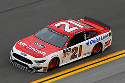 February 9, 2019 - Daytona, FL, U.S. - DAYTONA, FL - FEBRUARY 09: Paul Menard, driver of the #21 Wood Brothers Racing Motorcraft/Quick Lane Tire & Auto Center Ford Mustang, during Daytona 500 practice on February 9, 2019 at Daytona International Speedway in Daytona Beach, Fl. (Photo by David Rosenblum/Icon Sportswire) (Credit Image: © David Rosenblum/Icon SMI via ZUMA Press)