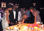 Rosario Dawson and Kanye West and Uma Thurman..2011 amfAR's Cinema Against AIDS Gala Inside..2011 Cannes Film Festival..Hotel Du Cap..Cap D'Antibes, France..Thursday, May 19, 2011..Photo By CelebrityVibe.com..To license this image please call (212) 410 5354; or.Email: CelebrityVibe@gmail.com ;.website: www.CelebrityVibe.com.**EXCLUSIVE**