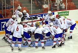 Norway team  at ice-hockey match Slovakia vs Norway at Preliminary Round (group C) of IIHF WC 2008 in Halifax, on May 03, 2008 in Metro Center, Halifax, Canada. (Photo by Vid Ponikvar / Sportal Images)