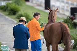 Smolders Harrie, NED, Emerald<br /> Horse Inspection<br /> Olympic Games Rio 2016<br /> © Hippo Foto - Dirk Caremans<br /> 12/08/16