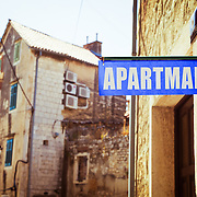 An apartment for rent in an old character neighborhood of Split, Croatia.