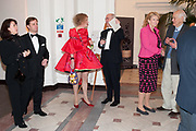 IAN PALMER; MONIQUE PALMER; GRAYSON PERRY; CHARLES SAUMERAZ SMITH; INGEBORG SCOTT,, Royal Academy Schools Annual dinner and Auction 2012. Royal Academy. Burlington Gdns. London. 20 ,March 2012.