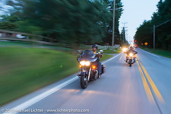 Flying Eagles MC president Dwight Randall on a ride out to Vanessa's Corner Pub in Westminster, MD with the Flying Eagles MC (founded 1950). USA. August 14, 2015.  Photography ©2015 Michael Lichter.