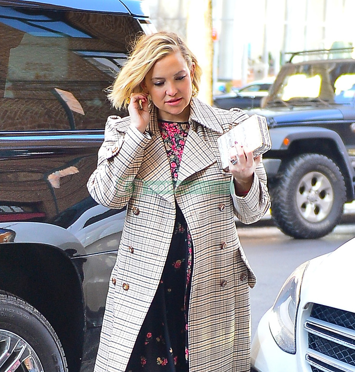 Kate Hudson rocks plaid out for Michael Kors show in New York. 13 Feb 2019 Pictured: Kate Hudson. Photo credit: PC / MEGA TheMegaAgency.com +1 888 505 6342
