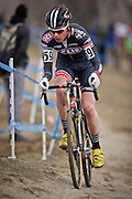 SHOT 1/12/14 12:32:57 PM - Maxx Chance (#59) of Boulder, Co. competes in the Men's 17-18 Race in the 2014 USA Cycling Cyclo-Cross National Championships at Valmont Bike Park in Boulder, Co. Chance finished second with a time of 41:01. (Photo by Marc Piscotty / © 2014)