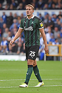 Scott Wootton (25) of Plymouth Argyle during the EFL Sky Bet League 1 match between Bristol Rovers and Plymouth Argyle at the Memorial Stadium, Bristol, England on 8 September 2018.