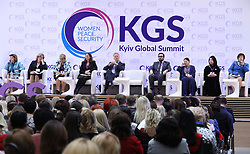 October 5, 2018 - Kyiv, Ukraine - Participants attend the Kyiv Global Summit Women. Peace. Security, Kyiv, capital of Ukraine, October 5, 2018. The event is dedicated to the peaceful settlement of military conflicts, solutions to a humanitarian crisis and the involvement of women in the peace-keeping process. Ukrinform. (Credit Image: © Danil Shamkin/Ukrinform via ZUMA Wire)