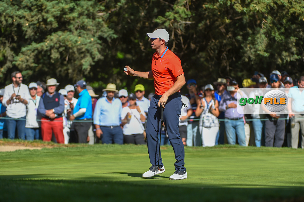 Rory McIlroy (NIR) after sinking his birdie putt on 7 during round 1 of the World Golf Championships, Mexico, Club De Golf Chapultepec, Mexico City, Mexico. 2/21/2019.<br /> Picture: Golffile   Ken Murray<br /> <br /> <br /> All photo usage must carry mandatory copyright credit (© Golffile   Ken Murray)