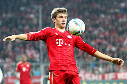 26.10.2011, Allianz Arena, Muenchen, GER, DFB Pokal, 2. Runde, FC Bayern Muenchen vs FC Ingolstadt, im Bild Thomas Mueller (Bayern #25)  // during the Pokal fight second Round from GER FC Bayern Muenchen vs FC Ingolstadt , on 2011/10/26, Allianz Arena, Munich, Germany, EXPA Pictures © 2011, PhotoCredit: EXPA/ nph/  Straubmeier       ****** out of GER / CRO  / BEL ******
