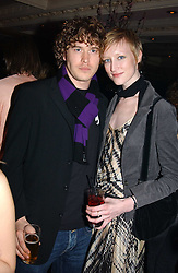Model JADE PARFITT and TOBY BURGESS at a party for the ICM Model agency held at Embassy, Old Burlington Street, London W1 on 14th February 2005.<br />