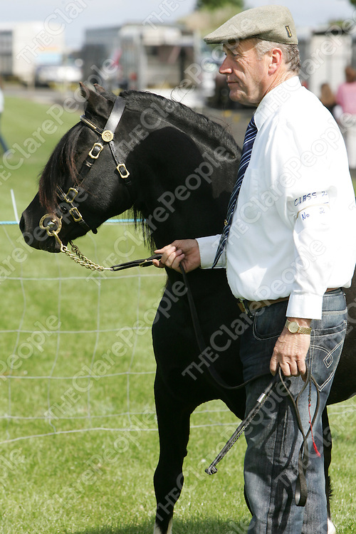 PIctured at the Mullagh show in County clare on Sunday 21st August 2011 was Michael Galvin (Malbey stud)<br /> Emma Jervis Press 22