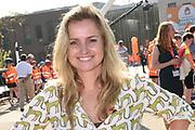 Koning Willem Alexander heeft in Twello de zesde editie van de Koningsspelen geopend. Hij deed dat na een gezamenlijk Koningsontbijt met kinderen van de Brede School De Fliert.<br /> <br /> Op de foto:  Fatima Moreira de Melo