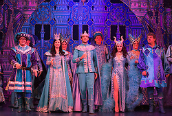 "© Licensed to London News Pictures. 06/12/2012. London, England. L-R: Jarred Christmas, Lizzie Jay-Hughes, James Austen-Murray and Priscialla Presley. Priscilla Presley makes her pantomime debut in ""Snow White and the Seven Dwarfs"" at the New Wimbledon Theatre, Wimbledon, from 7 December 2012 to 13 January 2013. Warwick Davis and Jarred Christmas star alongside her. Photo credit: Bettina Strenske/LNP"