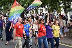John Lewis workers, Norwich Pride 30 July 2016 UK