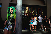 """RainbowGore Cake waits to compete in a drag competition at Capitol Hill Pridefest hosted by The Boulet Brothers, June 24, 2017. <br /> As the self-styled """"America's Youngest Drag Superstar,""""<br /> SailorHank Payne first began creating his drag persona, RainbowGore Cake, at age 8. Now 14 and starting high school in the fall, RainbowGore Cake has become a full-fledged character with growing notoriety. She has performed across the country— Austin, San Francisco, Portland and New Orleans— in shows and festivals."""