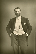 '(Francis Bernard) Dicksee, RA (1853-1928), English Romantic painter and illustrator pictured c1890. He was elected to the Royal Academy in 1891 and became President in 1924.'