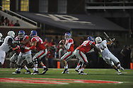 Mississippi Rebels quarterback Chad Kelly (10) against Vanderbilt Commodores at Vaught-Hemingway Stadium at Ole Miss in Oxford, Miss. on Saturday, September 26, 2015. (AP Photo/Oxford Eagle, Bruce Newman)