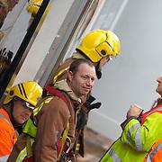 Firefighters at coffee break<br />