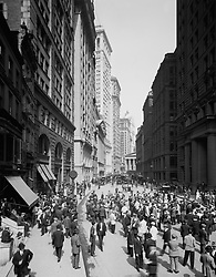 Dec. 3, 2015 - Broad Street and Curb Brokers, New York City, USA, circa 1910 (Credit Image: © Glasshouse via ZUMA Wire)