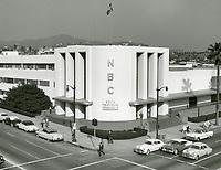 1956 NBC Studios at Sunset Blvd & Vine St