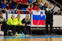 Uroš Bregar head coach of Slovenia during friendly game between national teams of Slovenia and Serbia on 29th of September, Celje, Slovenija 2018