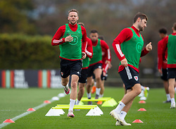 CARDIFF, WALES - Wednesday, September 2, 2020: Wales' Chris Gunter during a training session at the Vale Resort ahead of the UEFA Nations League Group Stage League B Group 4 match between Finland and Wales. (Pic by David Rawcliffe/Propaganda)
