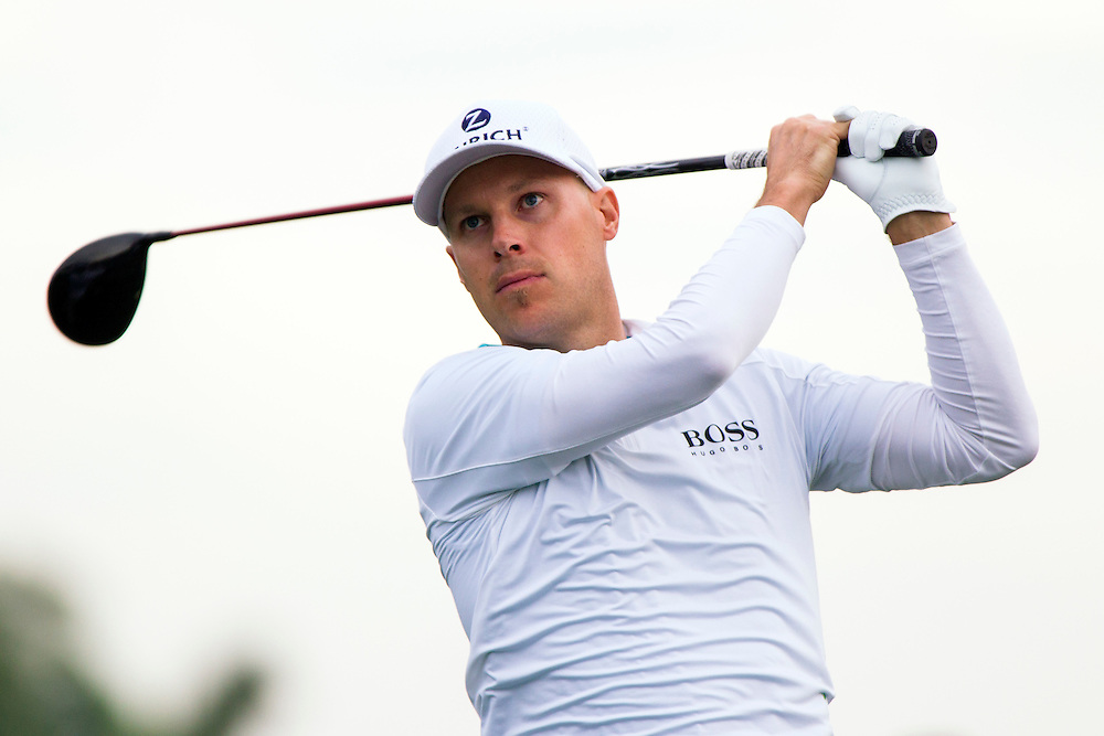 Feb 26, 2015; Palm Beach Gardens, FL, USA; Ben Crane during the first round of the Honda Classic at PGA National GC Champion Course. Mandatory Credit: Peter Casey-USA TODAY Sports