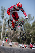 #996 (KRIGERS Kristens) LAT at round 8 of the 2018 UCI BMX Supercross World Cup in Santiago del Estero, Argentina.