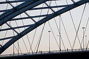 """Van Brienenoordbrug over the river the """"Nieuwe Maas"""", Rotterdam, Netherlands."""