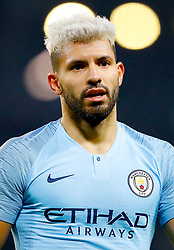 Manchester City's Sergio Aguero during the Premier League match at the Etihad Stadium, Manchester.