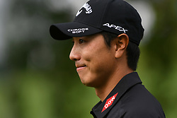 May 2, 2019 - Charlotte, NC, U.S. - CHARLOTTE, NC - MAY 02: Sangmoon Bae heads to the fairway on 16 during round one of the Wells Fargo Championship on March 02, 2019 at Quail Hollow Club in Charlotte,NC. (Photo by Dannie Walls/Icon Sportswire) (Credit Image: © Dannie Walls/Icon SMI via ZUMA Press)